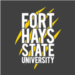 FHSU Stacked - White/Gold