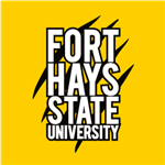 FHSU Stacked - White/Black