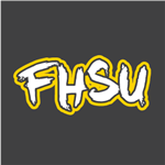 FHSU Sketched - White/Gold