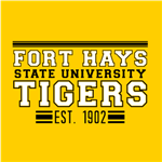 Fort Hays Tigers - Black/White